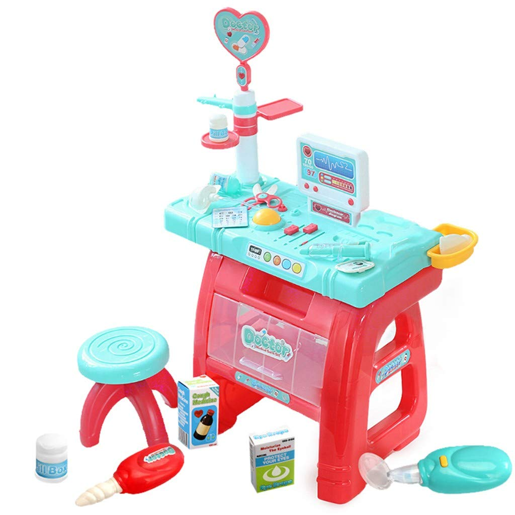 DDgrin Doctor Pretend Play Set Childrens Doctor Accessories Medical Kit Stethoscope Toys Organizer Role Playing Game Preschool Educational Toys