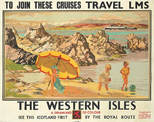 1930 Wall - The Western Isles Vintage Poster (artist: Gilfillan) UK c. 1930 (12x18 Art Print, Wall Decor Travel Poster)