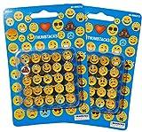 Set of 2 Emoji Emoticon Smiley Face Thumb Tacks Push Pins Total of 50