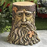 Bits and Pieces - Tree Face Table - Home and Garden Décor - Beatifully Sculpted for any Outdoor Area - Durable, Hand Painted Polyresin Statue