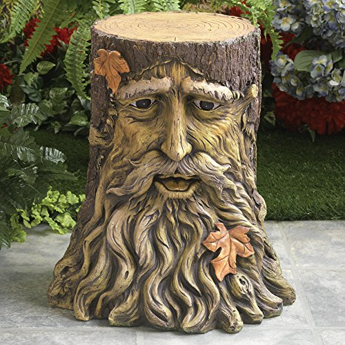 Bits And Pieces Home And Garden Décor Beatifully Sculpted Tree Face Table  For Any Outdoor Area   Durable, Hand Painted Polyresin Statue:  Amazon.co.uk: ...