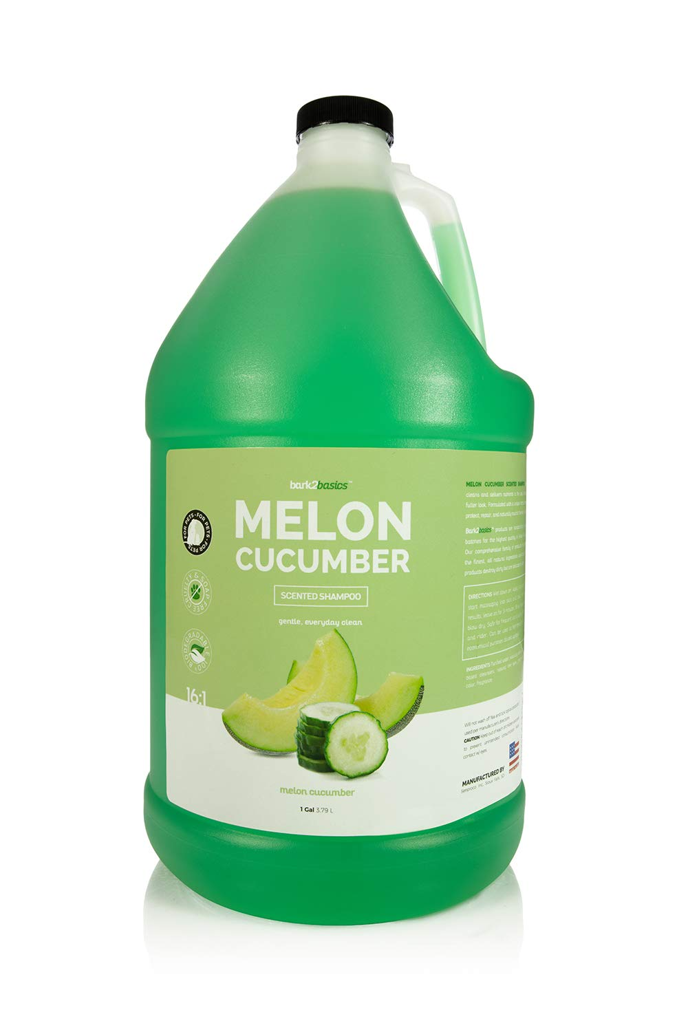 Bark 2 Basics Melon Cucumber Shampoo, 1 Gallon