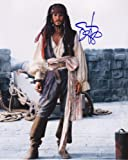 Johnny Depp - Pirates Of The Caribbean Signiert Autogramme 25cm x 20cm Foto