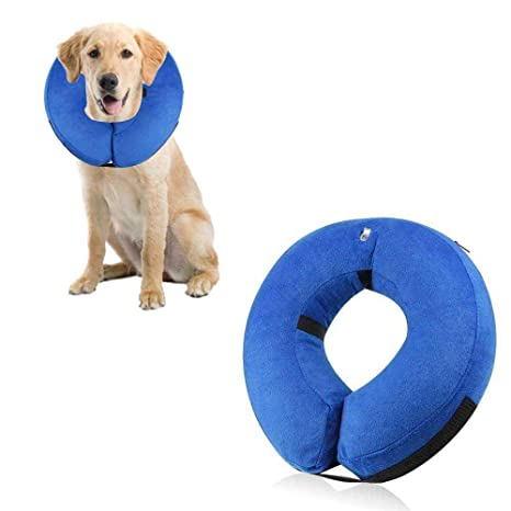 AUOKER - Collar Hinchable para Perros con Cuello de Cono Suave y ...