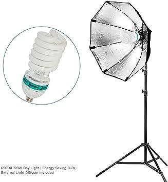 22 Black Silver Octagonal Soft Box Reflector Light Kit with 86 Light Stand LMS702 LimoStudio 400 Watt Photo Studio Softbox Lighting Kit