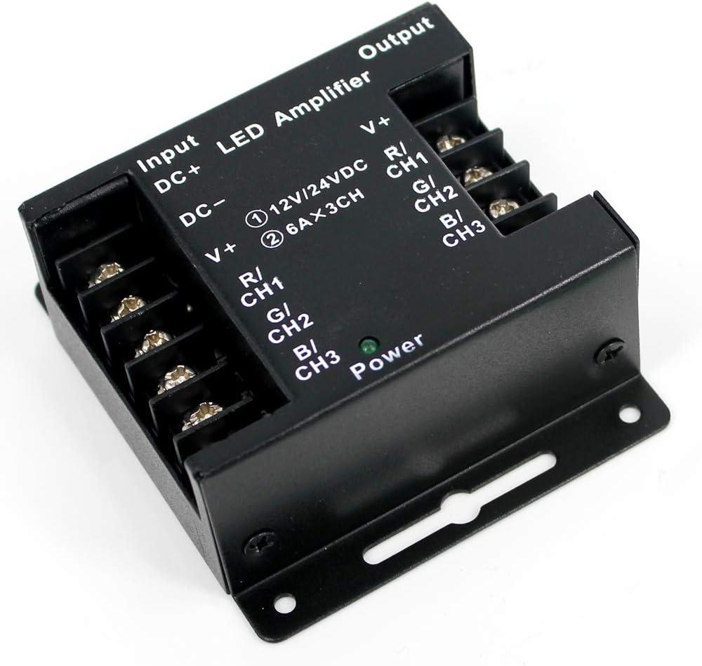 Súper Poder 12V / 24V 18A Amplificador Controlador para Tira de RGB LED