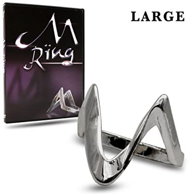 Magic Makers M Ring - Large Size 10 (19.8 mm Inner Diameter) - The Ultimate Hold Out Device: Toys & Games