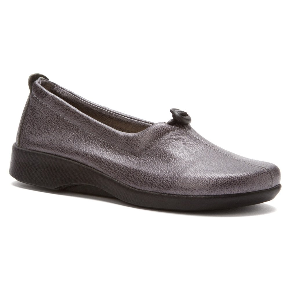 Arcopedico Womens QUEEN II Slip-on (7851) Pewter Size 39 EU (8.5-9 M US Women) by Arcopedico