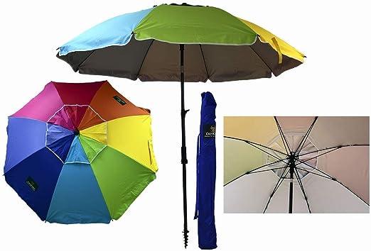 Sombrilla Crevicosta - Sombrilla con espiral, aluminio reforzado, diseño Orgullo, 200 cm de diámetro de parasol: Amazon.es: Jardín