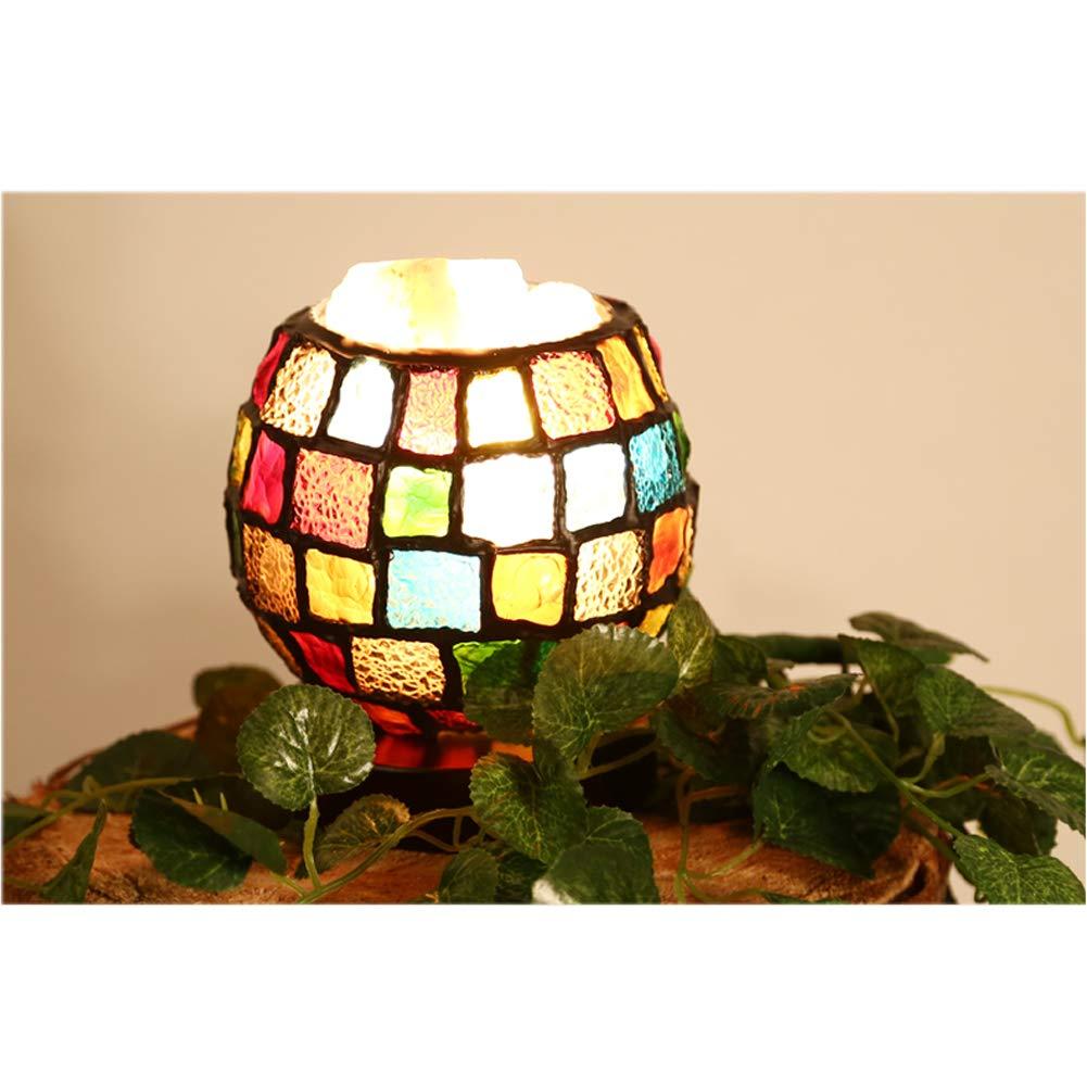 Amazon.com: CCSUN Lámpara de mesita de noche estilo Tiffany ...