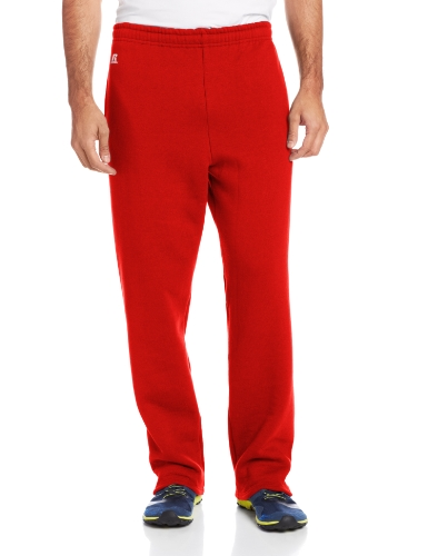 Russell Athletic Men's Dri-Power Open Bottom Sweatpants with Pockets, True Red, Medium