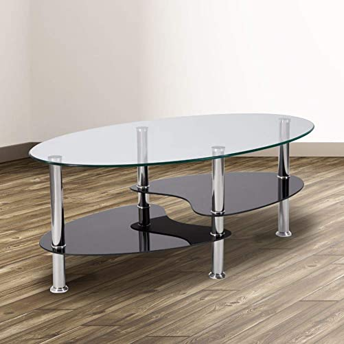 Flash Furniture Hampden Glass Coffee Table