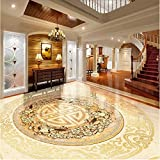 LHDLily 3D Wallpaper Mural Wall Sticker Thickening Photo Floor Stereoscopic Marble Stereoscopic Floor Wall Flooring 400cmX300cm
