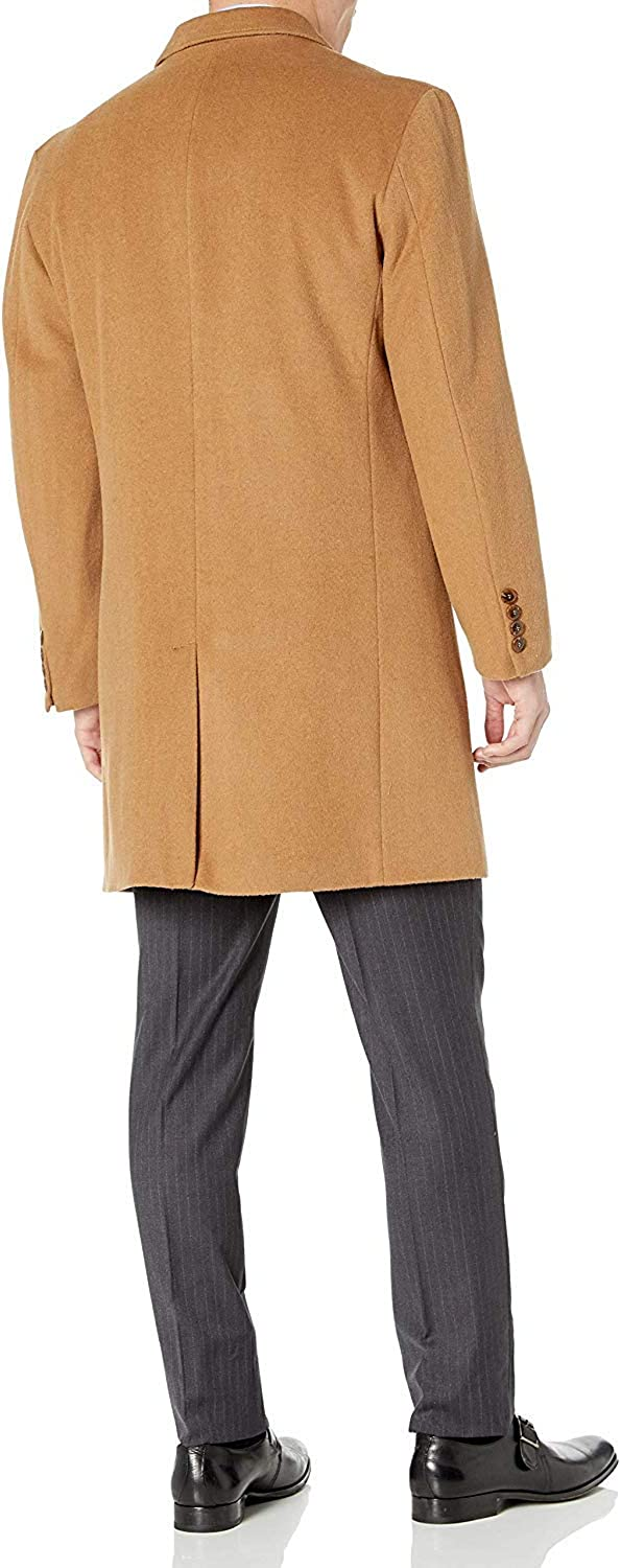 Colors Adam Baker Mens Double Breasted Wool//Cashmere Topcoat