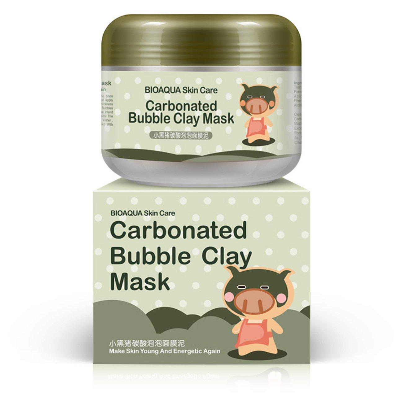 BIOAQUA Carbonated Bubble Clay Piggy Mask Clear Rejuvenation Skin Deep Plant Extracts Cleanse Nourishment Abundant Foam