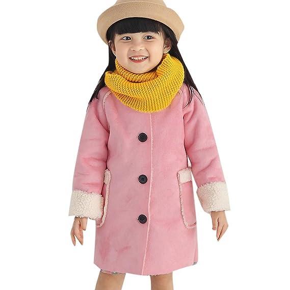 b751ed9dc Amazon.com  KONFA Girls Classic Button Fleece Padded Wind Coat ...