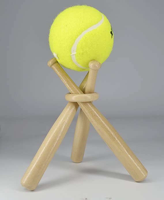 Amazon.com: Wooden Baseball Display Stand Holder -Consists of 3 Mini Baseball Bat (1 Pack): Kitchen & Dining