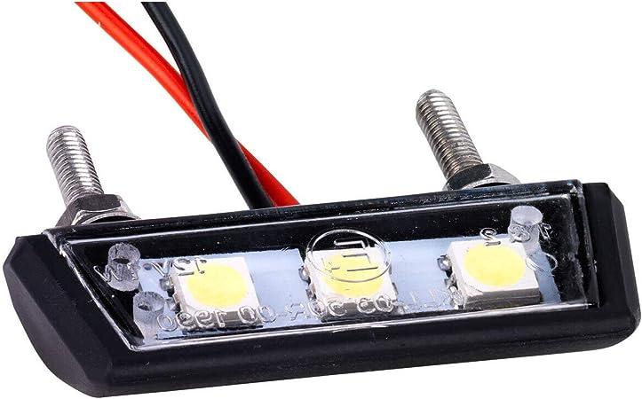 Mini Led Kennzeichenleuchte Kennzeichenbeleuchtung Motorrad Auto Kfz Quad Atv Schwarz Auto