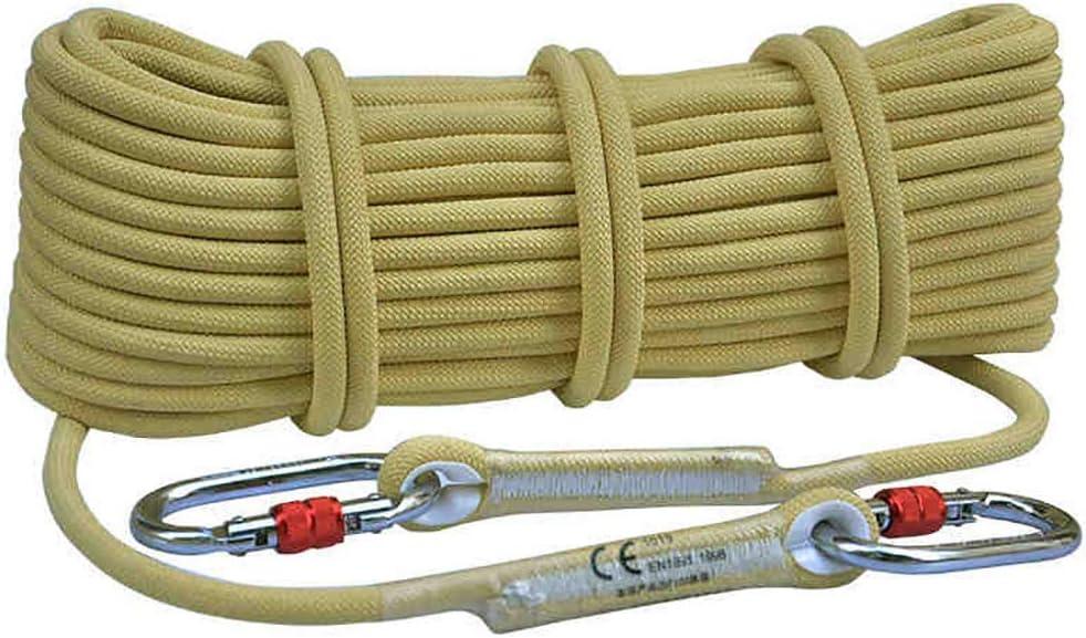ロープ屋外クライミングロープ、10.5 / 8mm安全ロープクライミングロープロープクライミングロープナイロンロープ脱出装置、10m / 5m(サイズ:8mm-10m)  8mm-10m