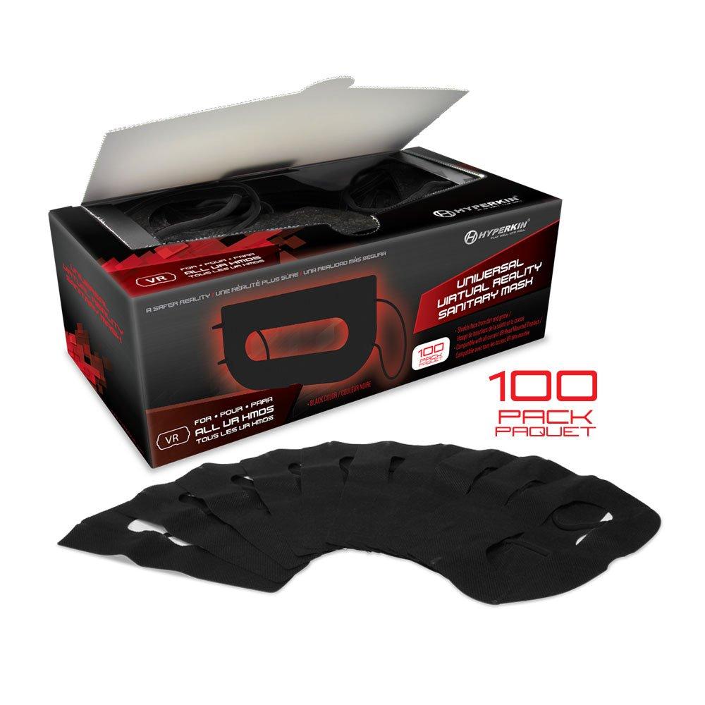 Hyperkin Universal VR Sanitary Mask V2.0 for HTC Vive/ PS VR/ Gear VR/ Oculus Rift (Black) (100-Pack) M07277-BK