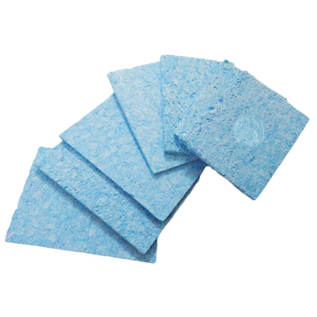 5pcs Nettoyage Éponge Pads À Souder Fer À Souder Pointe Soudage Bleu et Jaune Couleur Aléatoire 6cm * 6 cm 91ai-store
