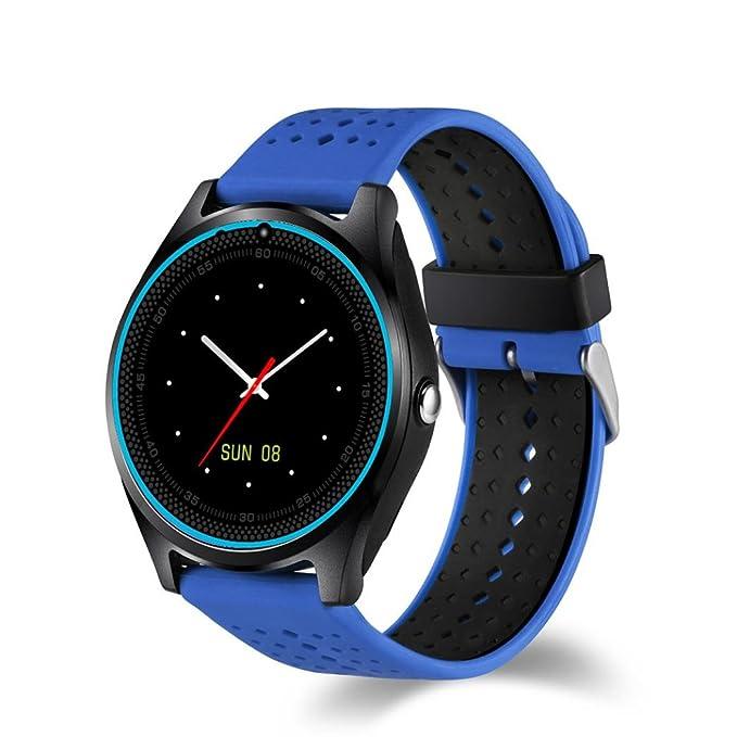 Multifuncional elegante reloj inteligente, Y56 V9 Bluetooth 4.0 0,3 m cámara muñeca llamada