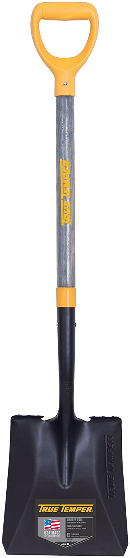 The AMES INC True Temper D-Grip Transfer Shovel with Wood Handle best square shovel
