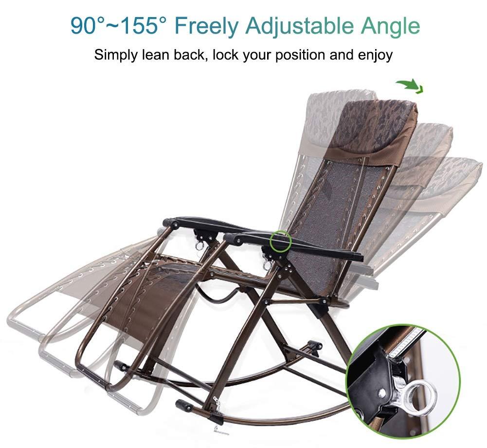 Amazon.com: LXLA - Silla mecedora para adultos al aire libre ...
