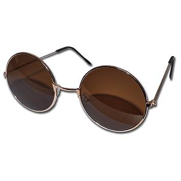 c94f8cde64784a Lunettes rondes de soleil couleur marron Style John Lennon  Amazon ...