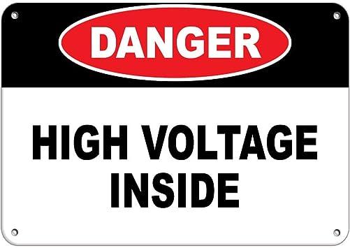 OSHA Danger Decal Hazardous Voltage InsideMade in the USA