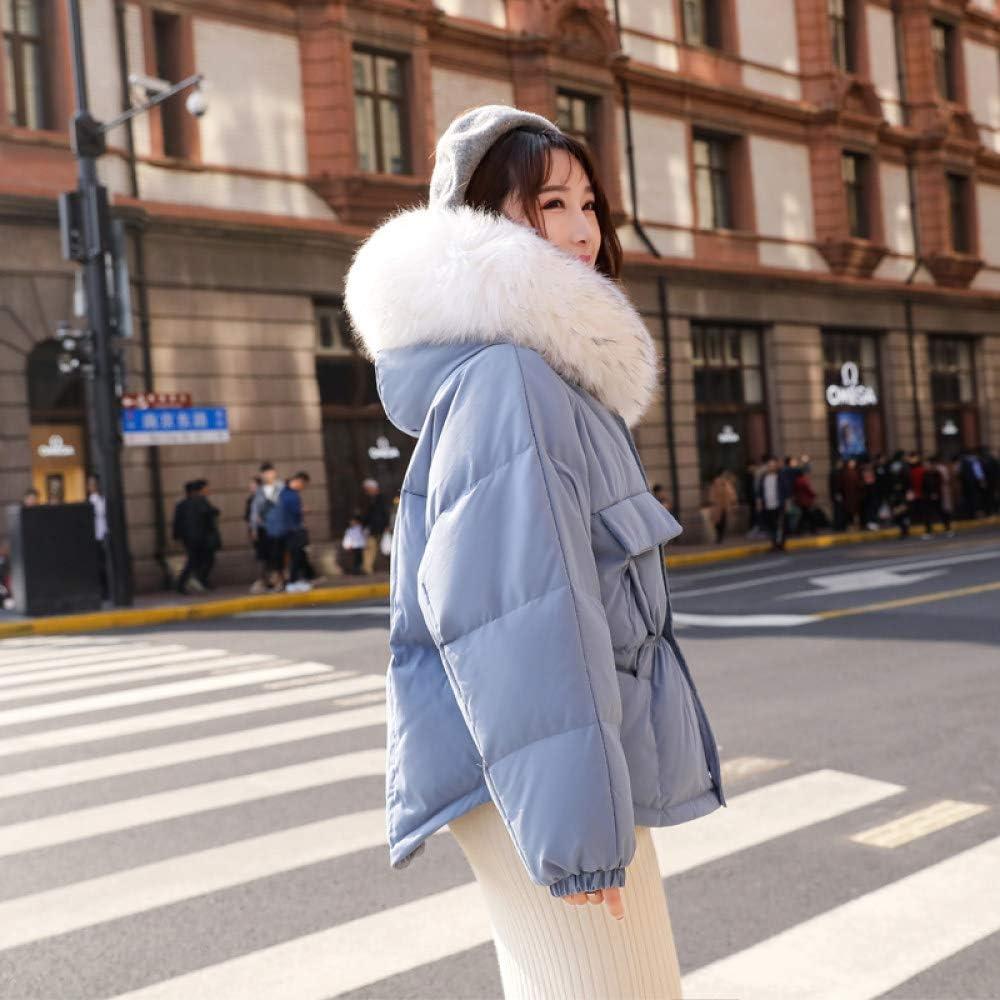 DPKDBN Parker, Inverno Caldo 90% Piumino D\'Anatra Bianco Parka Donna Cappotto Ampio con Cappuccio Cappotto Corto Cappotto Piumino Allentato Blu