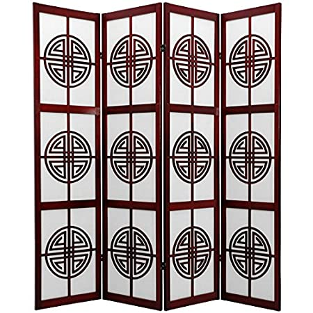 Oriental Furniture 6 Feet Long Life Japanese Folding Shoji Screen