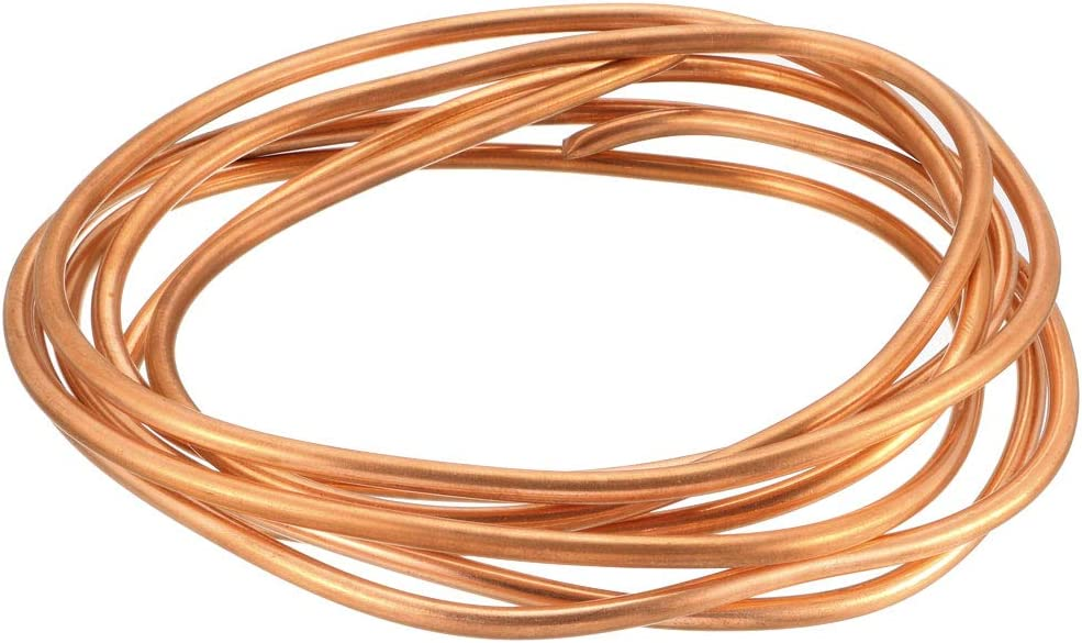 1//8 OD x 5//64 ID x 9.8 Ft Soft Coil Copper Tubing sourcing map Refrigeration Tubing