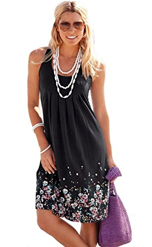 Sleeveless Beach Dresses Women Sexy Swimsuit Cover Up Loose Casual Printed Pleated Cotton