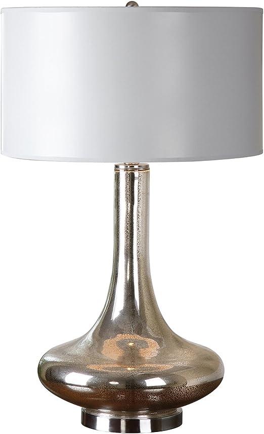 Uttermost 26906-1 Sullivan Mercury Glass Table Lamp Beige