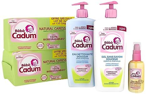 Cadum la Essentiel Aseo de bebé Toallitas Natural Caresse/Mon Aceite maravillosa/Gel sin