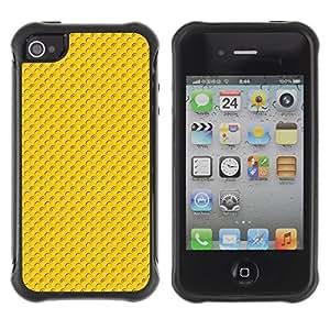 Suave TPU GEL Carcasa Funda Silicona Blando Estuche Caso de protección (para) Apple Iphone 4 / 4S / CECELL Phone case / / Pattern yellow dots /