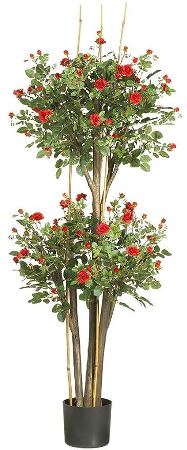 Amazon nearly natural 5238 mini rose silk tree red 5 feet nearly natural 5238 mini rose silk tree red 5 feet mightylinksfo