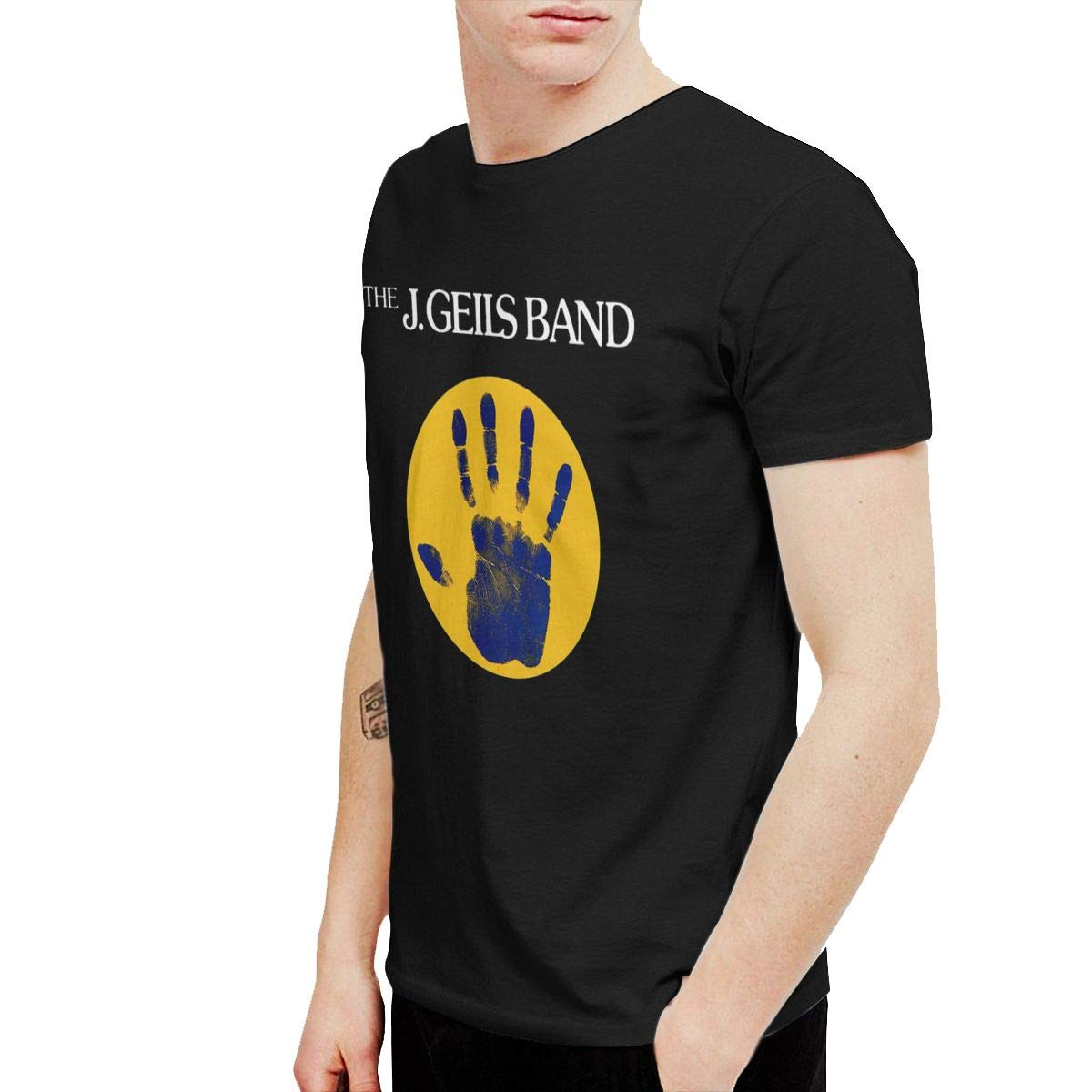 XLBSFJIWVD J Geils Mens Short Sleeve T-Shirt Black
