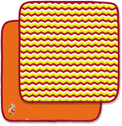 Spencer's 2 Pack Thermal Receiving Blankets- Chevron Stripe & Orange