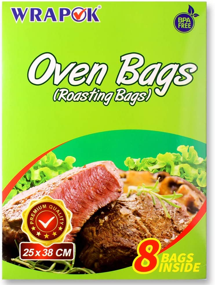 21.6 x 23.6 Inch WRAPOK Oven Turkey Bags Large Cooking Roasting Baking Bag for Chicken 10 Bags Meat or Vegetables on Thanksgiving