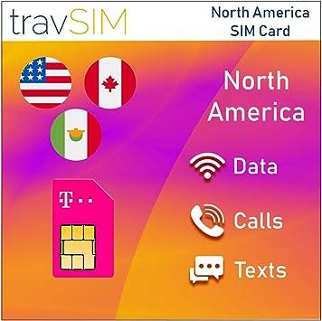 Travsim Prepaid T Mobile Sim Karte Für Usa Kanada Und Elektronik