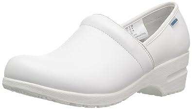 cb666ecfe85 Cherokee Workwear Women's Harmony White Padded Slip On Shoe 5 M ...