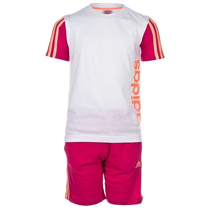 adidas Camiseta de Manga Corta - Para Niña WeixFFFD-Pink: Amazon.es: Ropa y accesorios