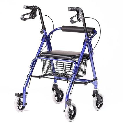 Rollator Walker plegable - 4 ruedas médico Rolling Walker con canasta de almacenamiento - Mobility Aid