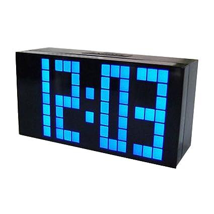 Mengonee Moda Ministerio del Interior LED Digital Grande Snooze Colgar de la Pared de Habitaciones Calendario