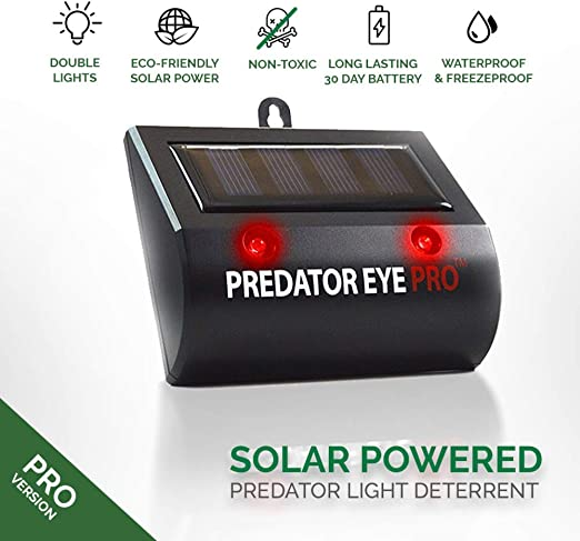 ASPECTEK Gatos Predator Eye Pro de Noche y día, Repelente Aire Libre, Resistente al Agua en Patio, césped, jardín, Parque y Granja, Solar Animal Repeller: Amazon.es: Jardín