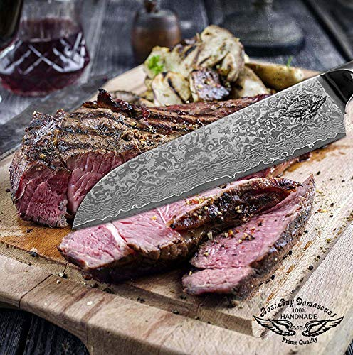 Santoku Chef knife 8 inch Best Quality Japanese VG -10 Super Steel 67 Layer High Carbon Stainless Steel, Incredible G10 Handle, Full-tang, Razor Sharp Chef Blade Kitchen Carving fillet chefs knives by Best.Buy.Damascus1 (Image #1)
