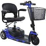 DIXI 20,3cm Scooter 3roues pliable avec lumière LED sont Certification CE pour handicapés