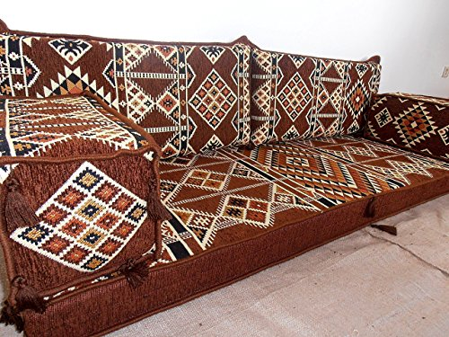 Arabic seating,arabic cushions,arabic couch,jalsa,arabic majlis,oriental furniture,hookah bar decor,floor couch,floor sofa,sofa covers - MA 33